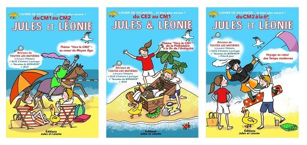 Couvertures des 3 cahiers de vacances