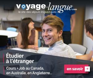 Séjours Cours+Job au Canada ou en Angleterre, Australie...