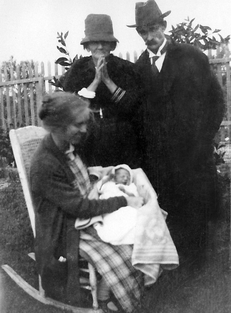 Mary Maude and John Nicholas and Queeenie with John 1924