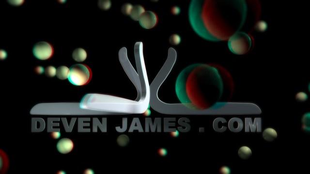 devenjames logo in stereoscopic 3D