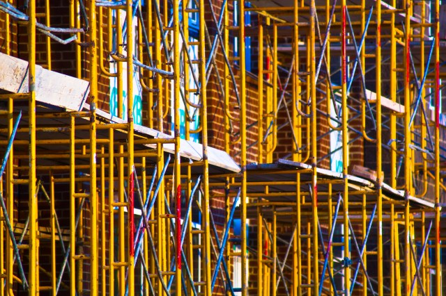 scaffolding next door