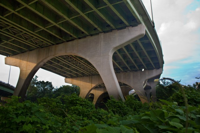 another under then bridge but with plants