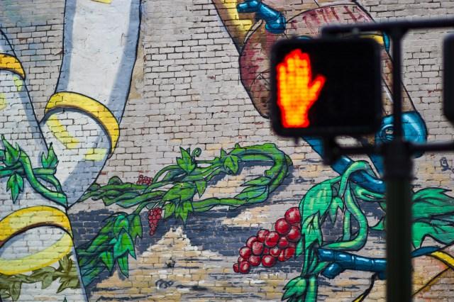 stop graffiti wall