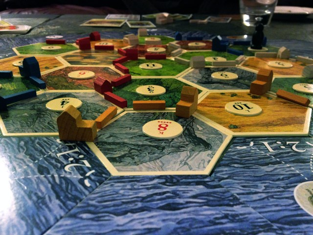 game night settlers of catan