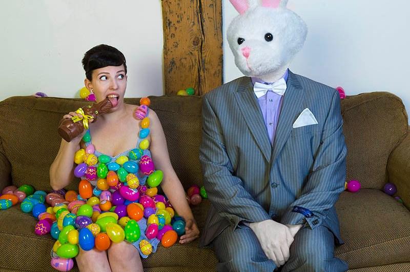 creepy april bunny shoot