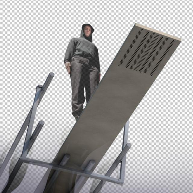 pixel drop 3d diving board - no one bts