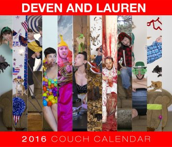 couch couple calendar 2016