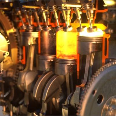 combustion engine octane explosia c4d