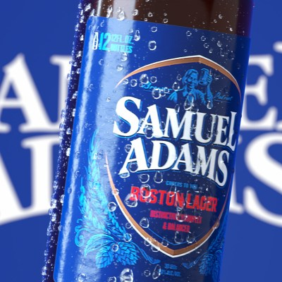 sam adams 3d bottle