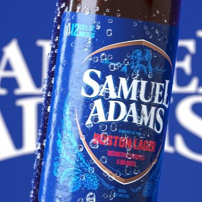 sam adams 3d bottle
