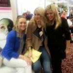 Lindsay with Lockdown models Emer O'Sullivan and Jean Eliott