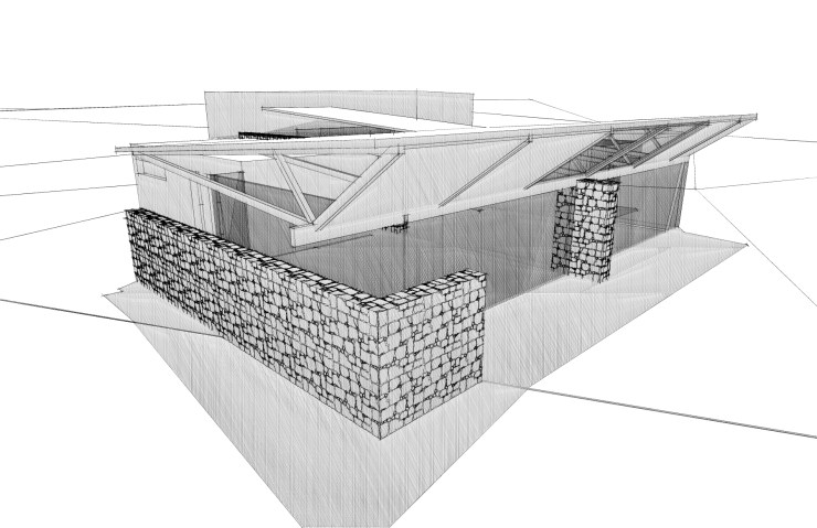 Deverson Architects Southland House sketch