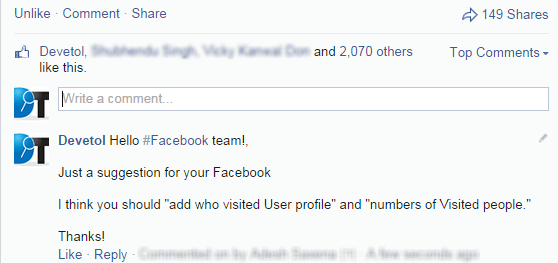 FB Tips comments