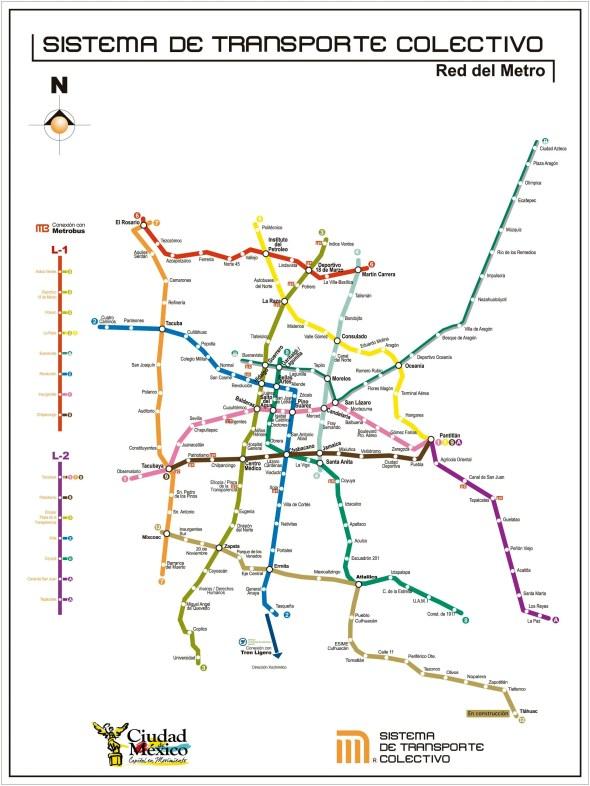Mapa Metro de México