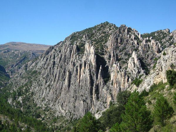 Monumento natural Órganos de Montoro en Aragón