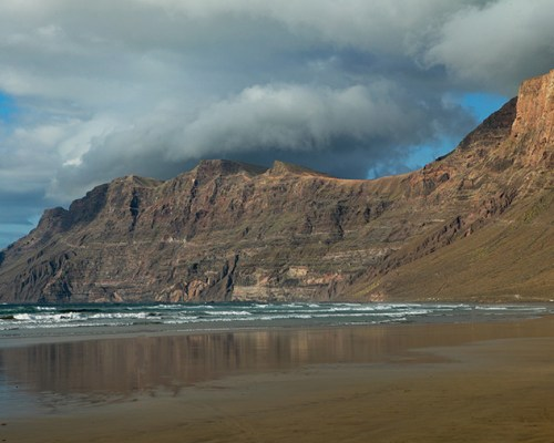 Famara Beach, Playa de Famara. Lanzarote, Spain.