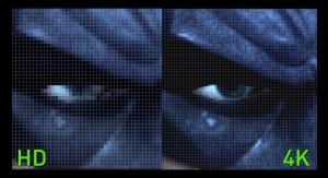 Se com o FullHD a imagem já parece real, em 4K os detalhes são assustadores.