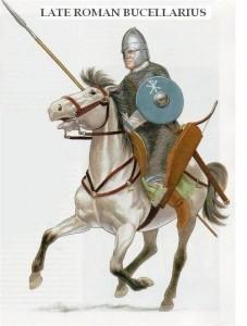 Cavaleiro arqueiro auxiliar romano, conhecidos como Bucellarius (Fonte: Late Roman Legions & military: https://goo.gl/1CDHaj / Autor: Desconhecido)