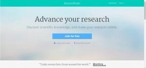 Página de entrada do Research Gate (fonte)