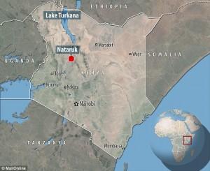 Localização de Nataruk, no Quênia.