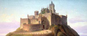 Gravura do Castelo no século XIX (Fonte: http://www.burg-hohenzollern.com/ - Autor: Desconhecido)