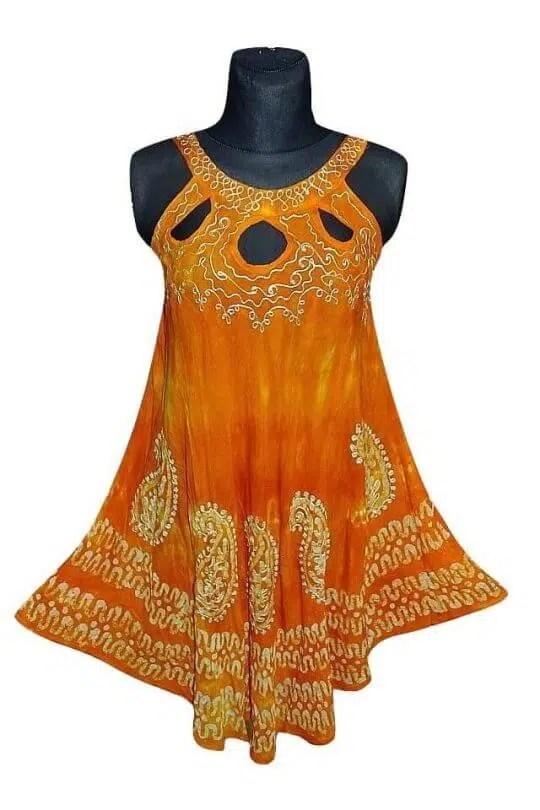 Indiai rövid ruha 2113 narancs