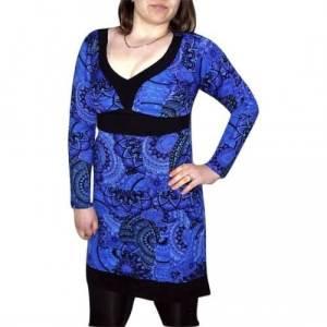 elegáns rövid ruhák Tunika kék Színben mandala mintás