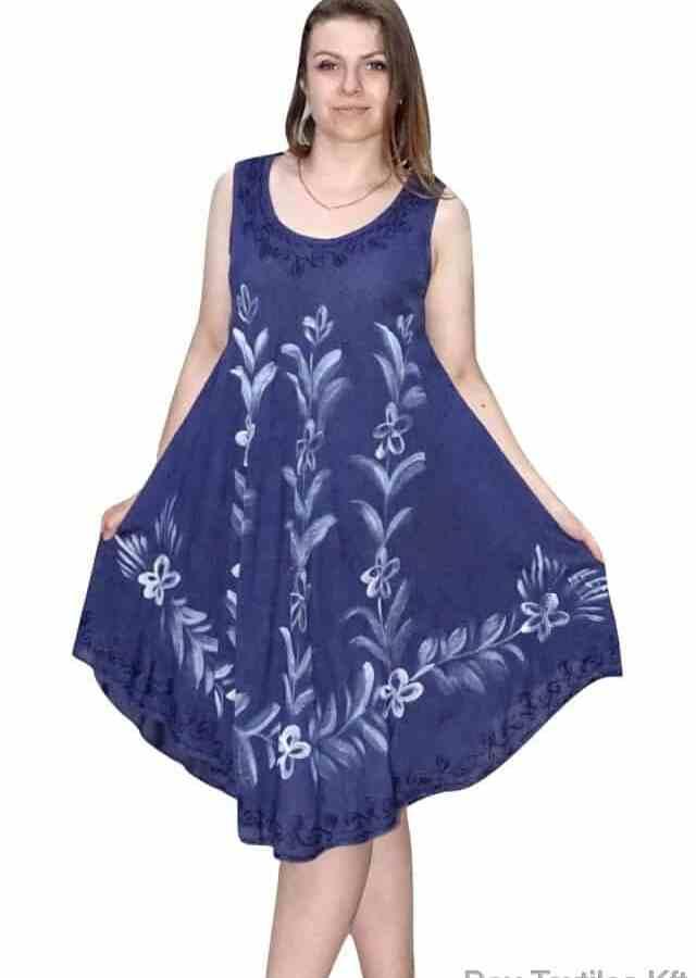 nyári ruha virág mintával kék színben