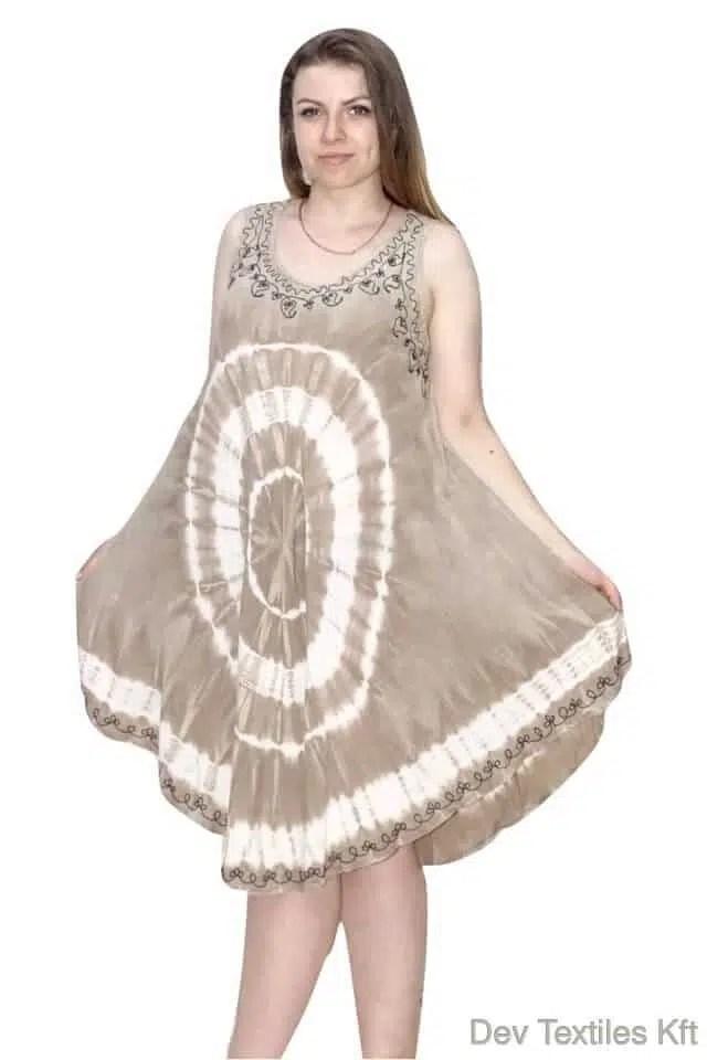 b3c2a0287 Indiai rövid ruha fehér kör mintával | Indiai Nyári Ruhák | Devifashions