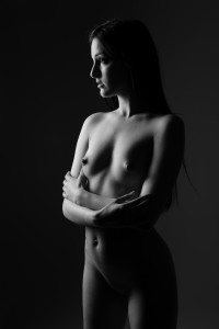 Nude standing woman by Jean-Christophe Destailleur