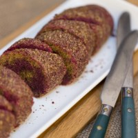 Raw, Vegan Beetroot Bread Roll