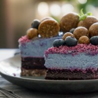 Wild Blueberry Blue Tea Cake