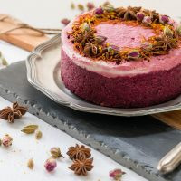 Spiced Beet Chai Latte Cake