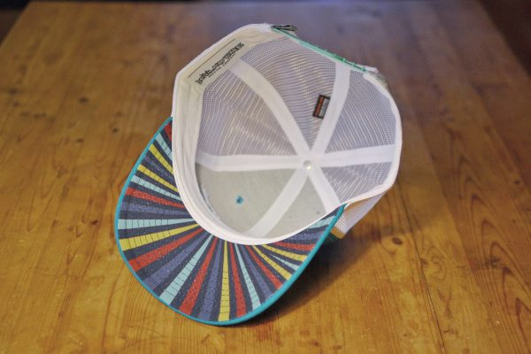 Starstuff ballcap - teal with white mesh inside view