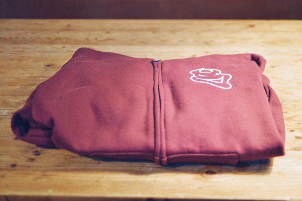 Zip Hoodie - Cardinal Red front view