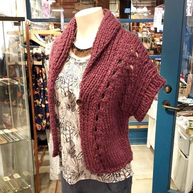 Hand Knit Sweater with Necklace