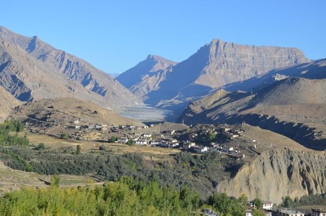 Manegogma village as seen from trek to Sopona lake