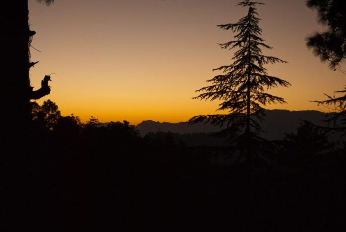 Beauty of a setting sun with the perfect setting in Karsog Valley