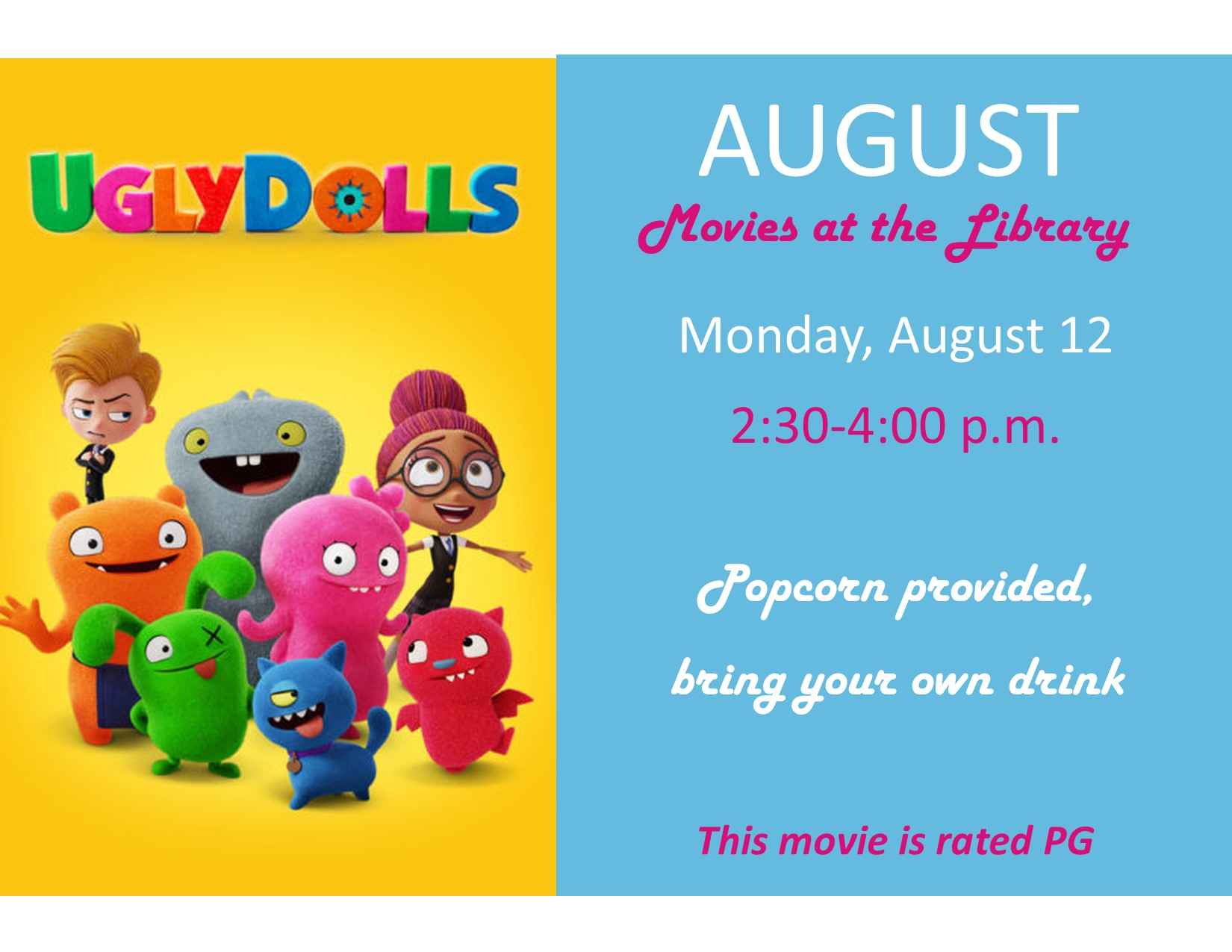 August~Movie at the Library