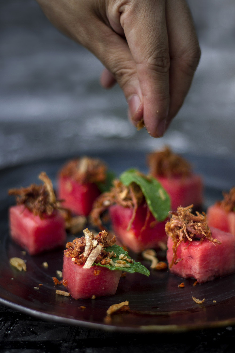 Weekend Kitchen: Fish Floss with Watermelon