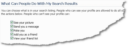Facebook What Can People Do With My Search Results