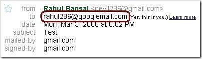 googlemail alias