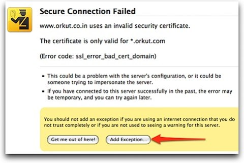 Fixed] Orkut countrywide domain side-effect - Secure Connection Failed!