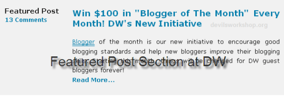 Image of featured post section at Devils Workshop