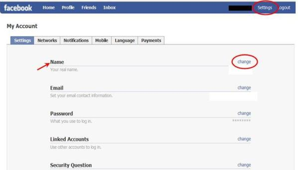 Display an alternate name on your Facebook Profile and Search Results
