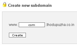 Create sub domain in 000webhost