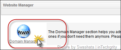 Go to the Domain Manager on awardspace