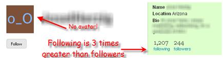 spam twitterers