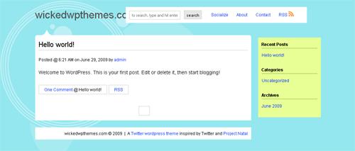 twitter wordpress theme