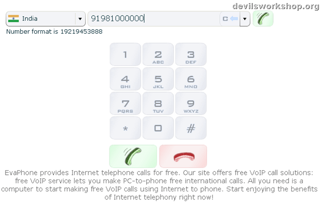 Make Free Call from Computer to any mobile Number worldwide using